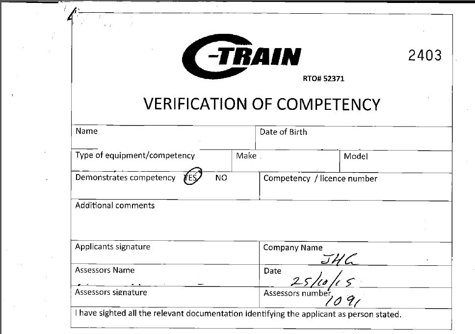 how to get certificate of competency