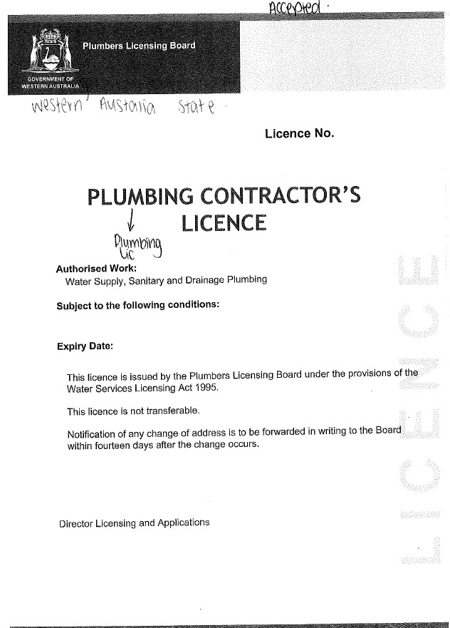 Woolworths Business Rules Licences Plumbing And Gas Pegasus