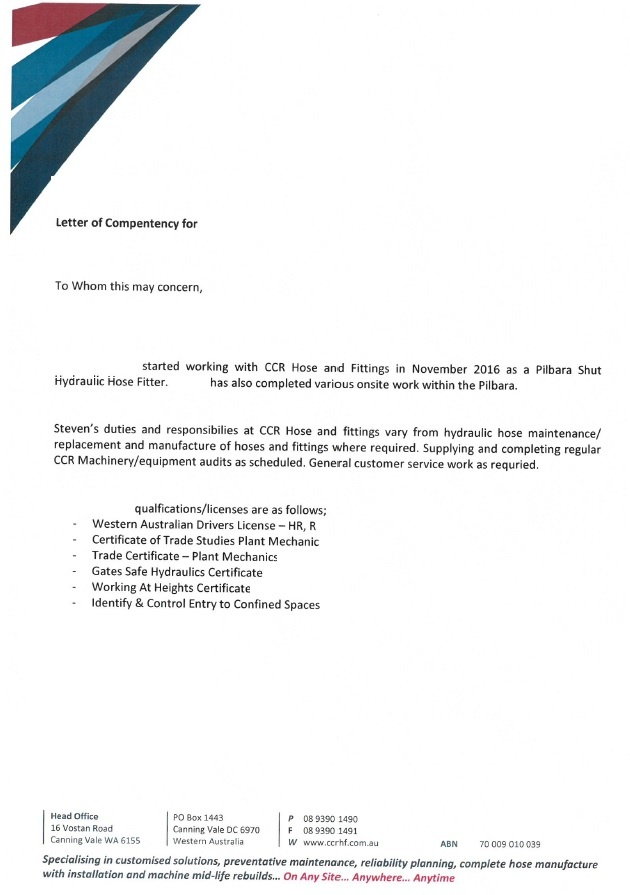Yancoal Business Rules | Letter of Competency   Pegasus Mining