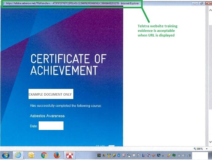 asbestos awareness certificate